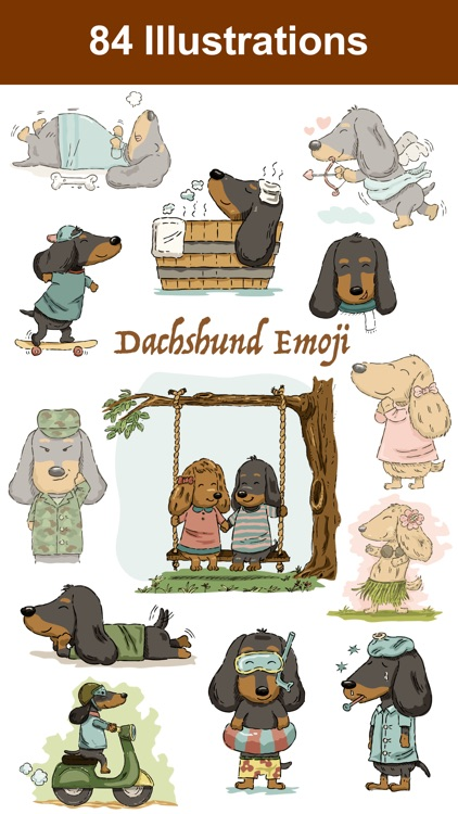 Dachshund Emoji Doxie Stickers