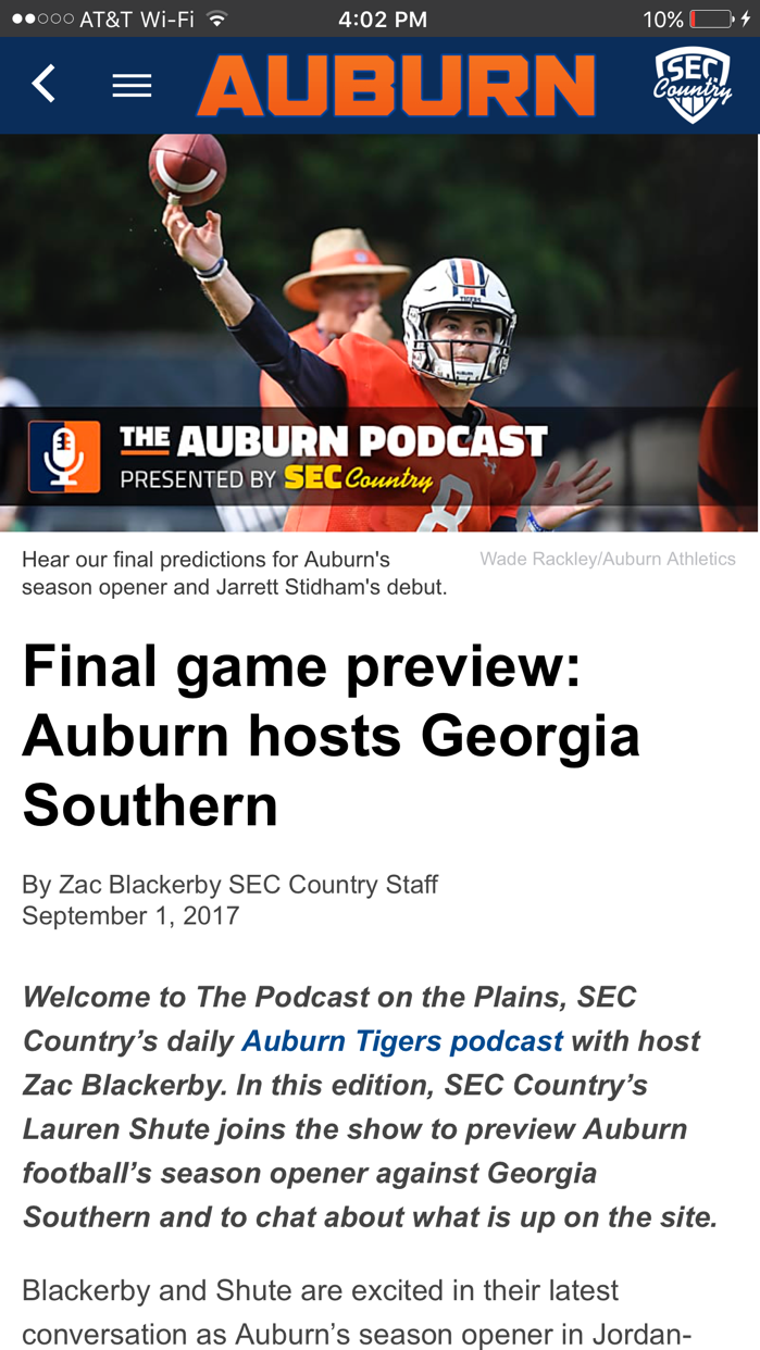 SECCountry.com - Football News Screenshot