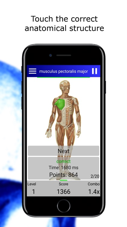 Anatomy Quiz lite screenshot-1