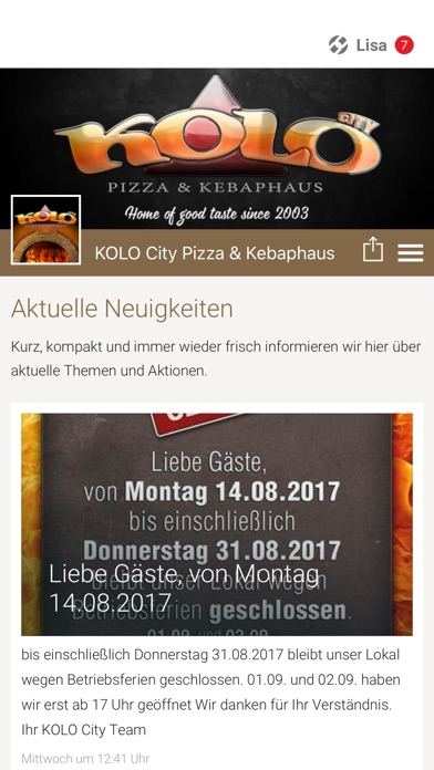 KOLO City Pizza & KebaphausScreenshot von 1
