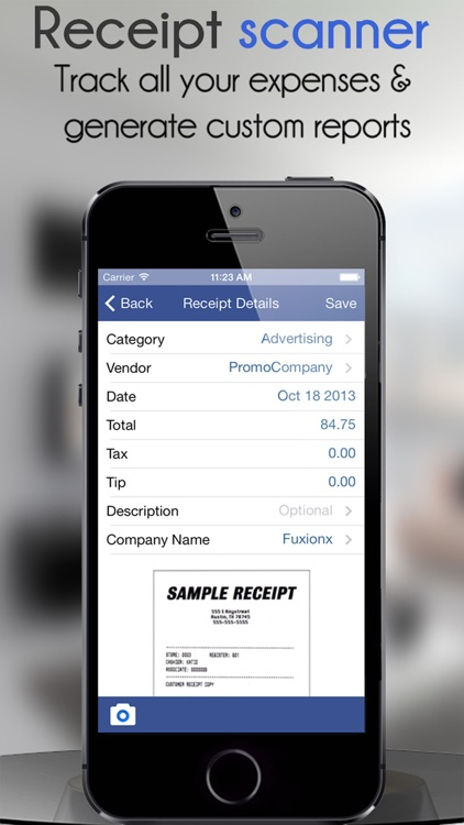 Receipt Scanner-Expense Report