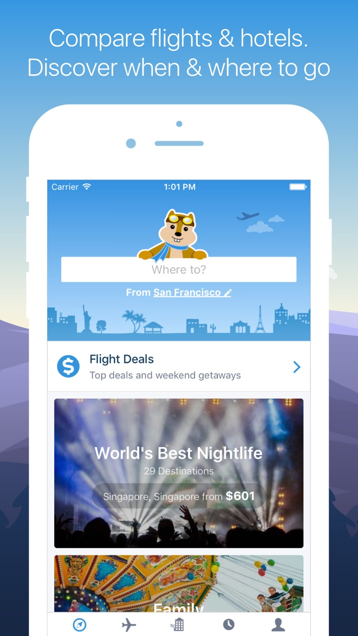 Hipmunk Travel Search Screenshot