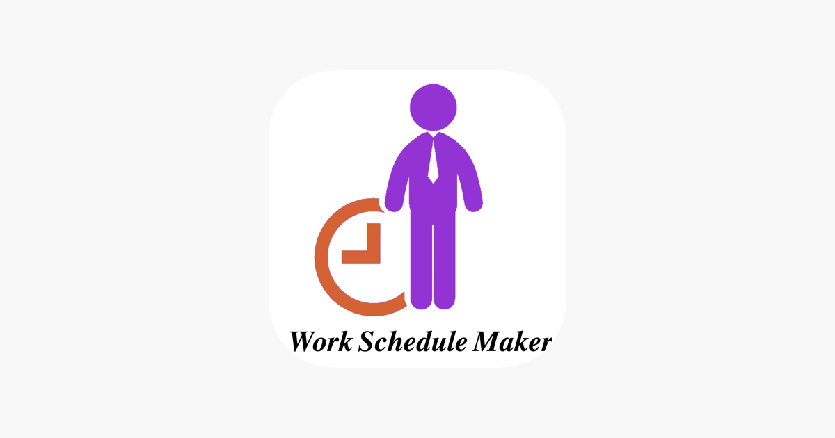 work schedule maker on the app store