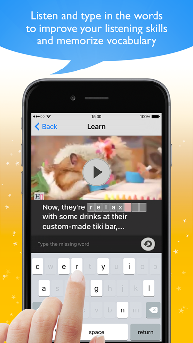 Learn English with Videos! Screenshot