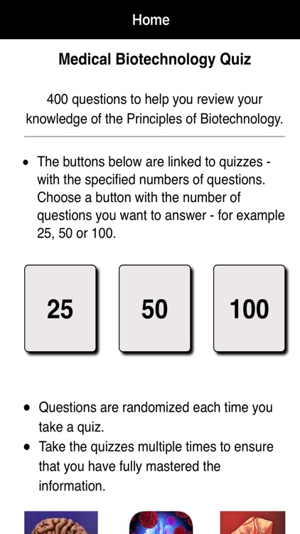 Medical Biotechnology Quiz