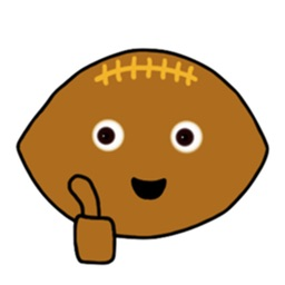 Rugby Ball Emoji Sticker
