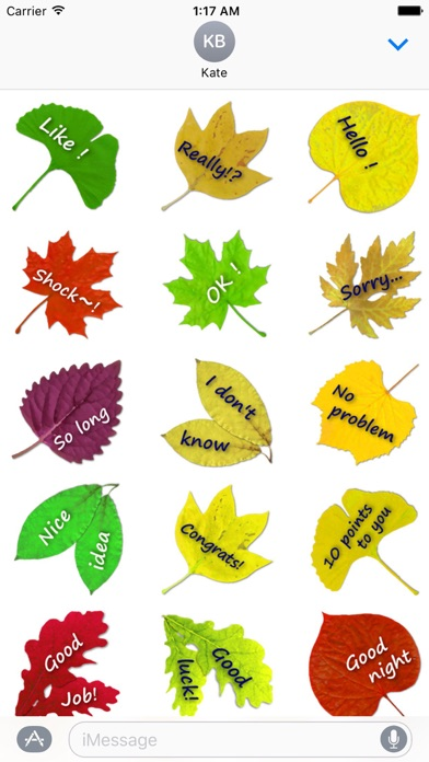 Messages On The Leaves Sticker screenshot 1