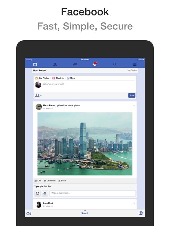 Friendly for Facebook iPad