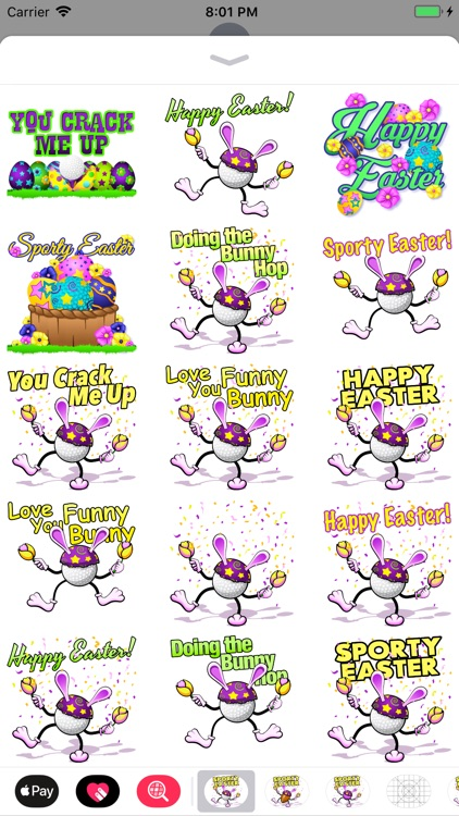 Easter Golf Stickers