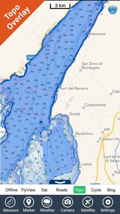 Italy Lakes charts - GPS fishing maps Navigator screenshot-1
