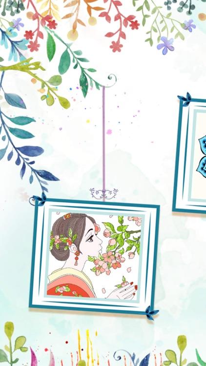 涂色花园—少女描绘魔法秘密森林