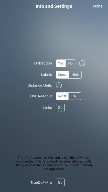 TrueDoF Depth of Field Calc screenshot-3