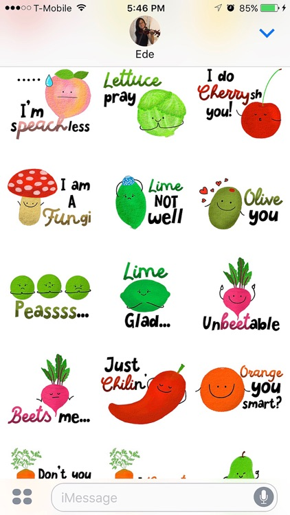 Punny Produce 2 Stickers