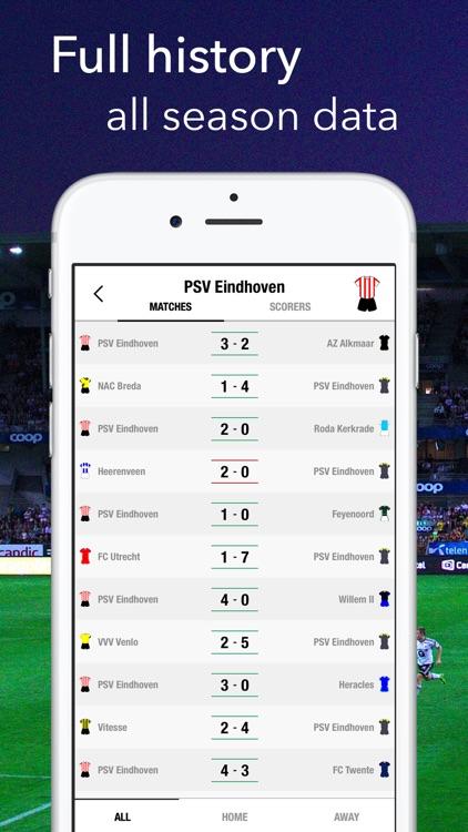 Eredivisie - Football Results screenshot-3