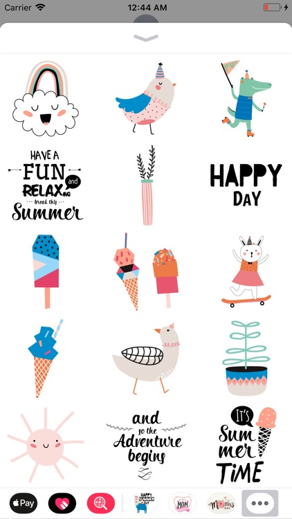 Summer Animal N Cactus Sticker