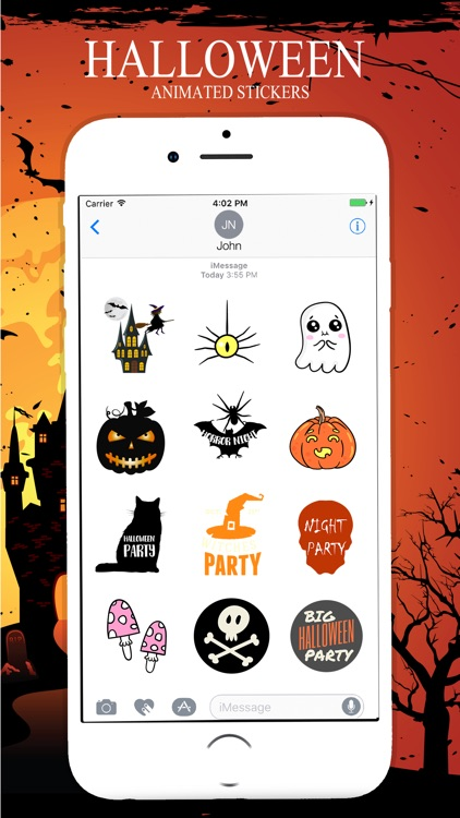 Animated Halloween Stickers Pack