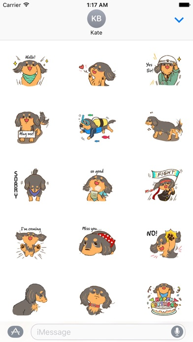 Cute Dachshund Dog Sticker screenshot 1
