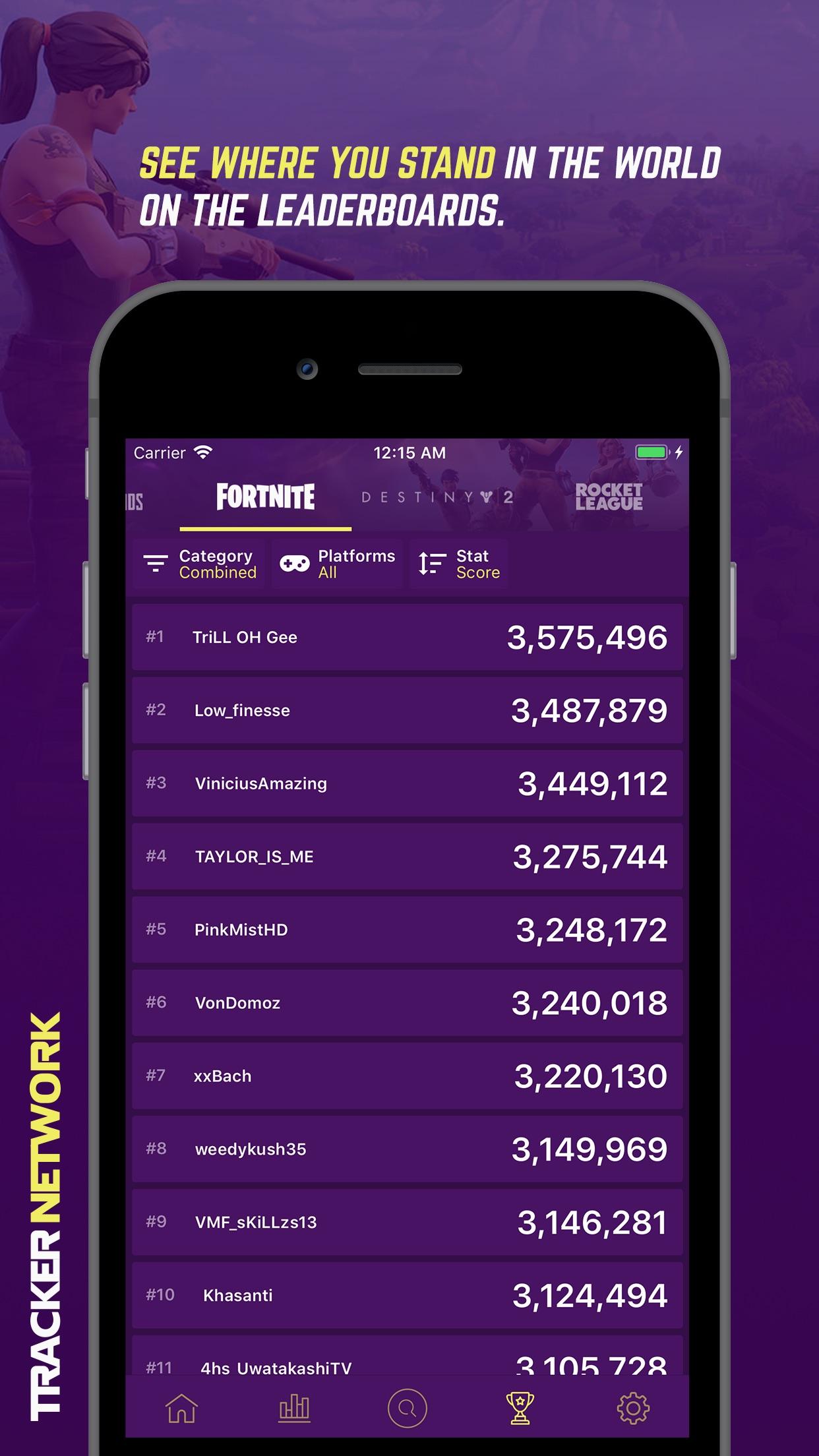 Tracker Network for Fortnite Screenshot