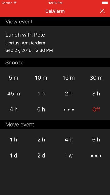 CalAlarm 2 - calendar alarm