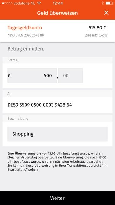 LeasePlan Bank SparenScreenshot von 3