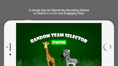 Random Team Selector Starter screenshot one