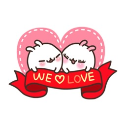 Love Bunny Animated Stickers