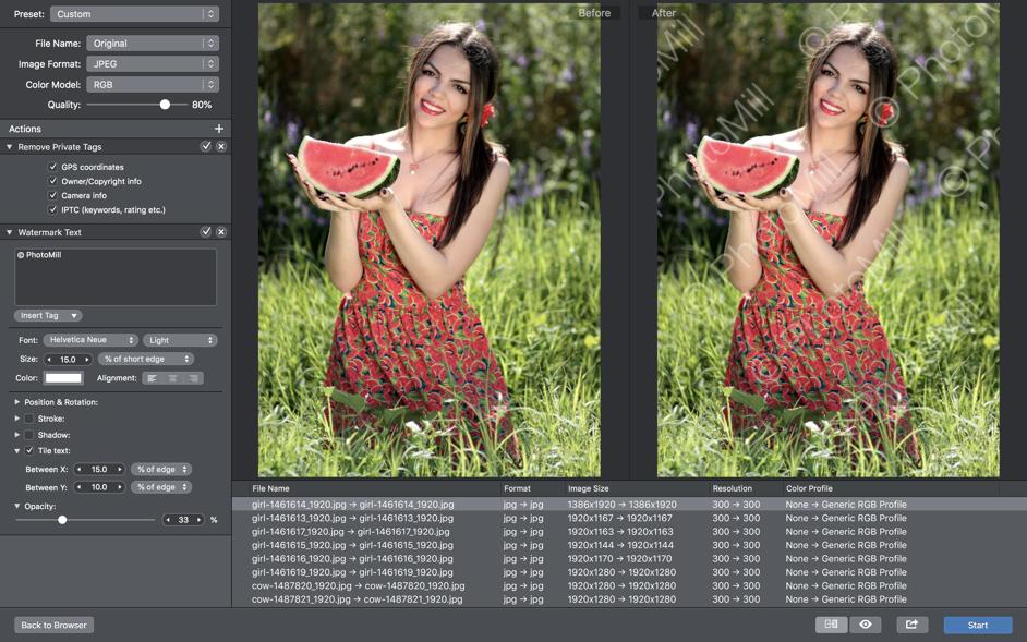 PhotoMill X Mac 破解版 强大的图片浏览和编辑转换应用