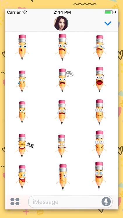 Pencil Cartoon Sticker Pack