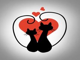 Sticker Black Cats for iMessage