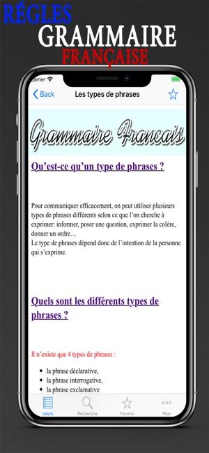 Regles Grammaire Francaise Im App Store