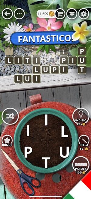 Il giardino delle parole su app store for Soluzioni il giardino delle parole