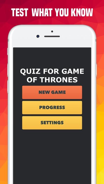 Quiz for Game of Thrones (GOT)