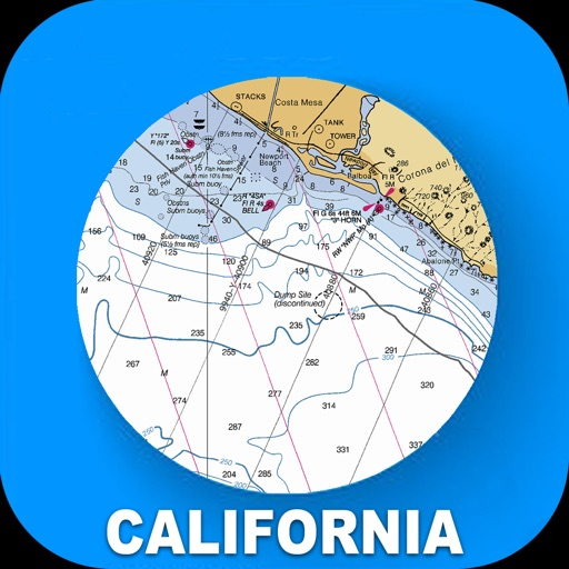 California USA Nautical Charts