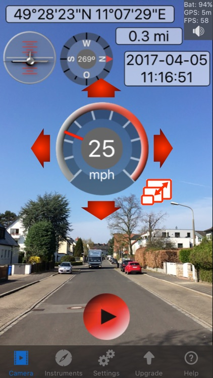 Car Camcorder: HUD Speedometer screenshot-0