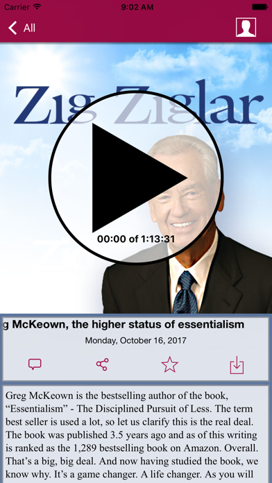 Zig Ziglar Inspire review screenshots