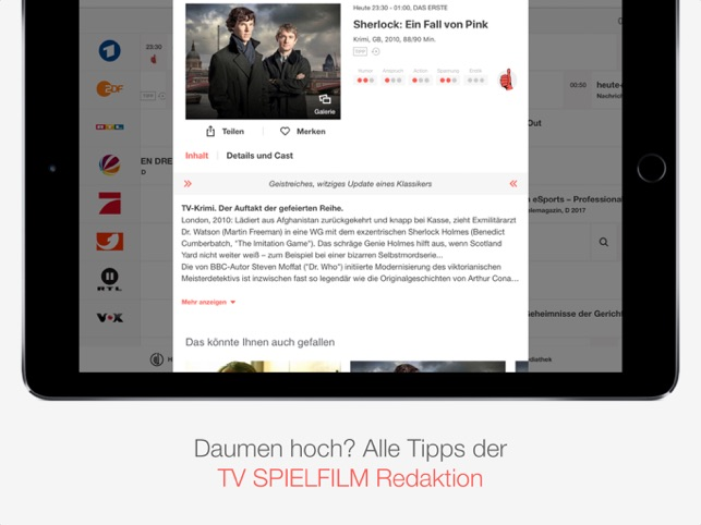 TV SPIELFILM - TV Programm Screenshot