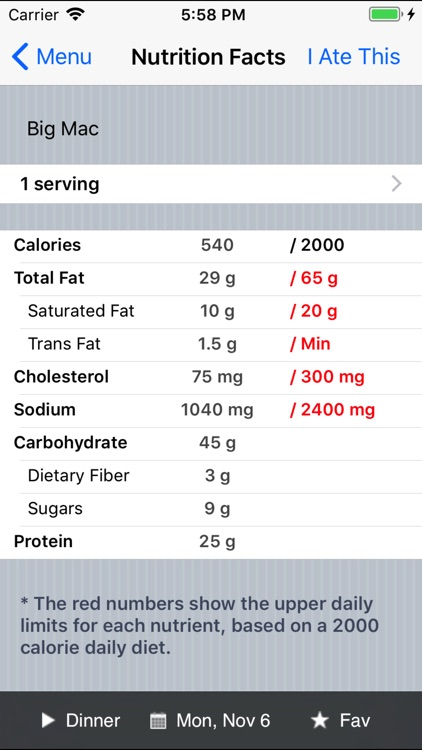 Restaurant Calorie Counter screenshot-3