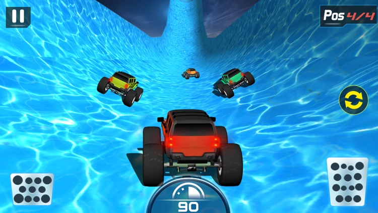 Water Slide Monster Truck driving screenshot-0