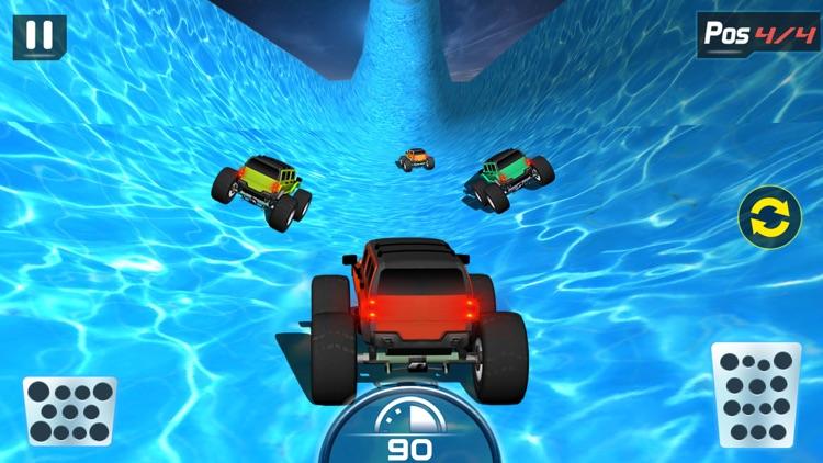 Water Slide Monster Truck driving