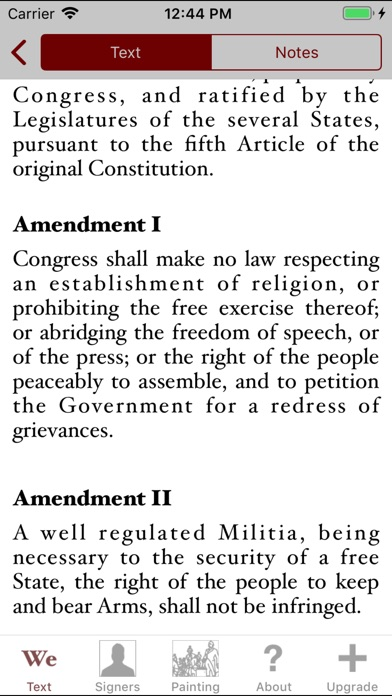 Constitution For Iphone review screenshots