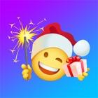 Weihnachten Emoji und Santa icon