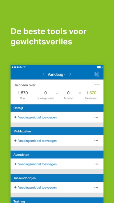 Screenshot for MyFitnessPal in Netherlands App Store