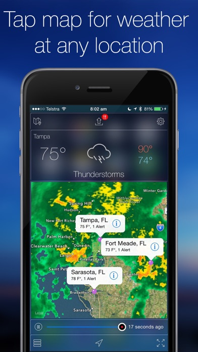 Screenshot #2 for Weather Radar Map Live