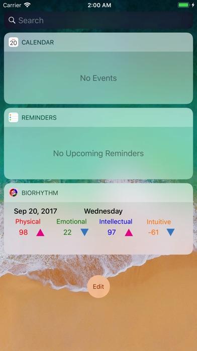 BiorhythmΩ Screenshots