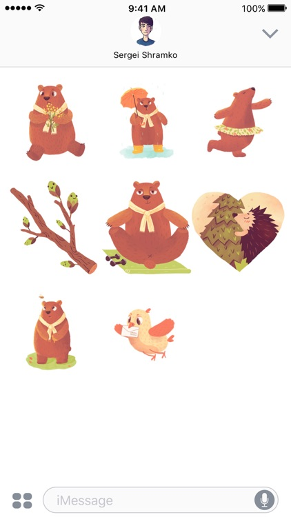 In The Woods - Animated Stickers