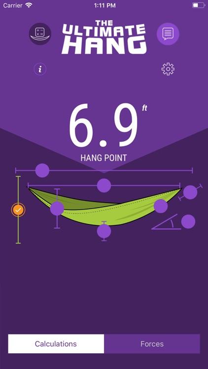 Hammock Hang Calculator