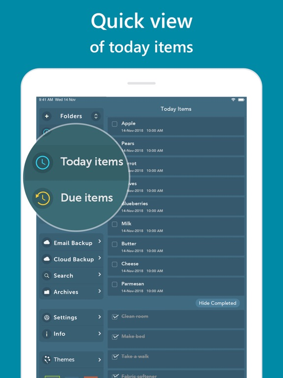 Screenshot #2 for Orderly - Simple to-do lists