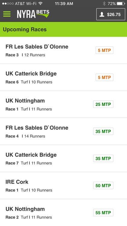 NYRA Bets - Horse Race Betting screenshot-3