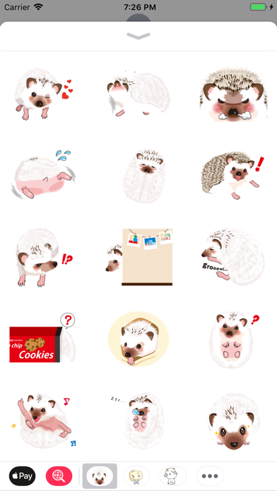 Hedgehog Funny Stickers Pack screenshot two