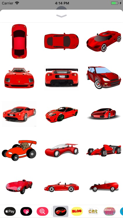 Red Car Stickers
